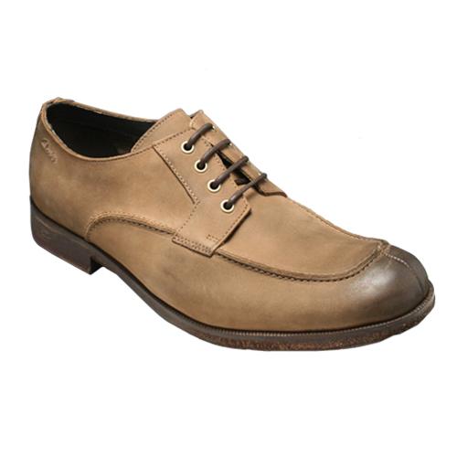 【Clarks(クラークス)】本革底の牛革カジュアルシューズ(Uチップ)・GLAZE LO(グレイズ ロー)・874C(タバコ)20351183/メンズ 靴
