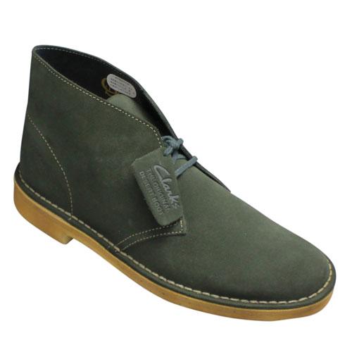 【Clarks(クラークス)】デザートブーツ・Desert Boot(デザートブーツ)・334E (グリーンスエード)/26109443/メンズ 靴