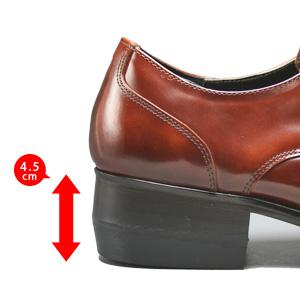 TOPY トピー おすすめ 完売 ヒールアップ ラバー フランス製 メンズ 最大4.5cmまでヒールアップ 期間限定価格 靴 脚長効果で身長が高くなります