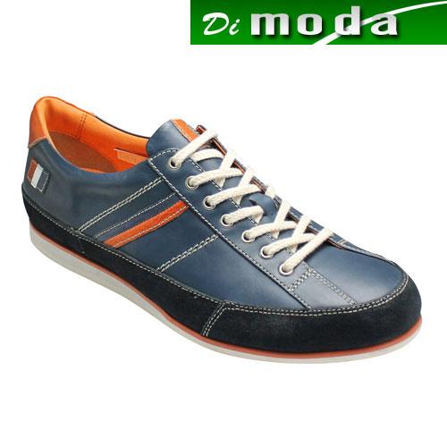 【CASTELBAJAC(カステルバジャック)】トリコロールカラーのアクセントがオシャレなヨーロピアンスニーカー・CA12126(ネイビー)/メンズ 靴