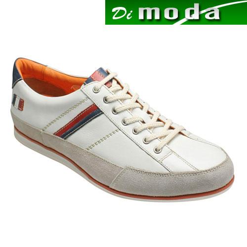 【CASTELBAJAC(カステルバジャック)】トリコロールカラーのアクセントがオシャレなヨーロピアンスニーカー・CA12126(ホワイト)/メンズ 靴