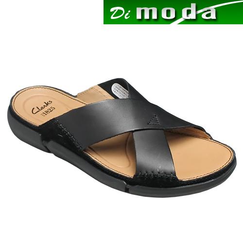 クラークス/超軽量の快適サンダル・Trisand Cross(トライサンドクロス)・728E(ブラック)26124022/clarks メンズ 靴