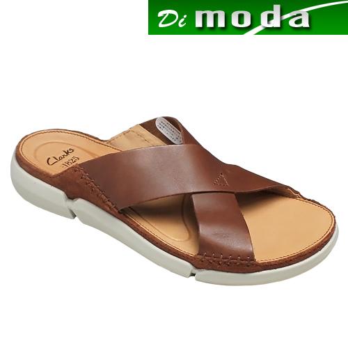 クラークス/超軽量の快適サンダル・Trisand Cross(トライサンドクロス)・728E(タン)26124031/clarks メンズ 靴