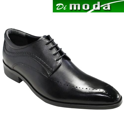 エル オム/ロングノーズのレースアップビジネス&カジュアルドレスシューズ(スワールモカ)・EH6003(ブラック)/ELLE HOMME メンズ 靴