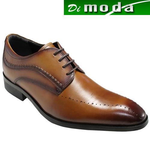 エル オム/ロングノーズのレースアップビジネス&カジュアルドレスシューズ(スワールモカ)・EH6003(ライトブラウン)/ELLE HOMME メンズ 靴
