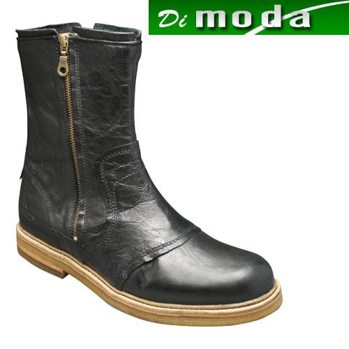 【J SHOES(ジェイ シューズ)】素材の良さとオシャレなカラーリングの牛革ブーツ・JS1113(ブラック)/メンズ 靴