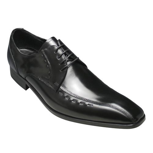 【ANTONIO DUCATI(アントニオ ドュカッティ)】本革底のロングノーズビジネスシューズ・スワールモカ(外羽根)DC8410(ブラック)/メンズ 靴