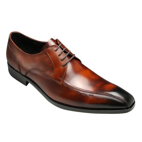 【ANTONIO DUCATI(アントニオ ドュカッティ)】本革底のロングノーズビジネスシューズ・スワールモカ(外羽根)DC8410(ブラウン)/メンズ 靴