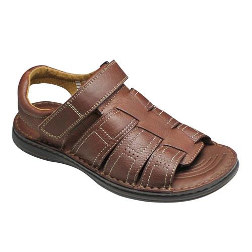 【flexi(フレクシー)】メキシコ製の牛革のスポーツサンダル(バックバンド)・FX96702(ブラウン)/メンズ 靴