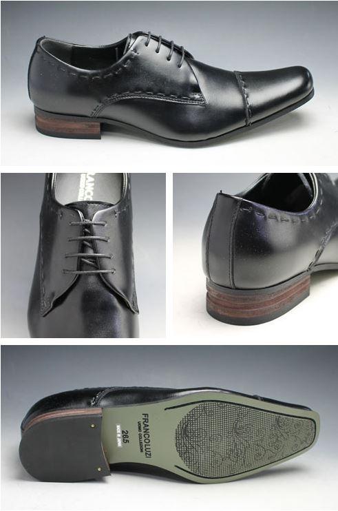 长鼻子的牛皮商务鞋(直率的小费)、FL4672(黑色)/3E宽度/人鞋