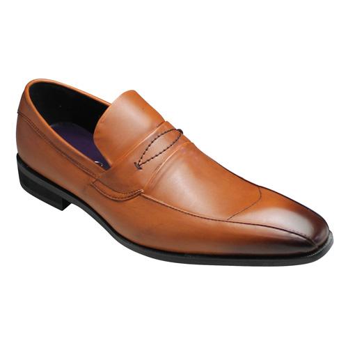 【FRANCO LUZI(フランコルッチ)】ビジネスシューズ/スリッポン・FL7852(ブラウン)/3E幅広/メンズ 靴