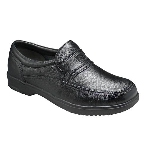 【City Golf(シティー ゴルフ)】超軽量・4Eの幅広ウォーキングシューズ(スリッポン)・GF901(ブラック)/メンズ 靴
