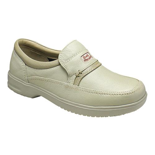 【City Golf(シティー ゴルフ)】超軽量・4Eの幅広ウォーキングシューズ(スリッポン)・GF901(アイボリー)/メンズ 靴