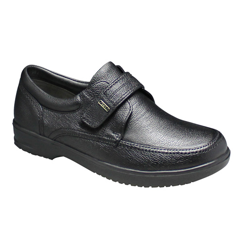 【City Golf(シティー ゴルフ)】超軽量・4Eの幅広ウォーキングシューズ(ベロクロ)・GF904(ブラック)/メンズ 靴