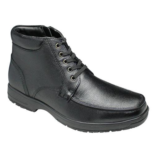 【City Golf(シティー ゴルフ】4Eの幅広・全天候型で履き心地の良い撥水加工の牛革ショートブーツ(Uモカシン)・SPGF910(ブラック)/メンズ 靴