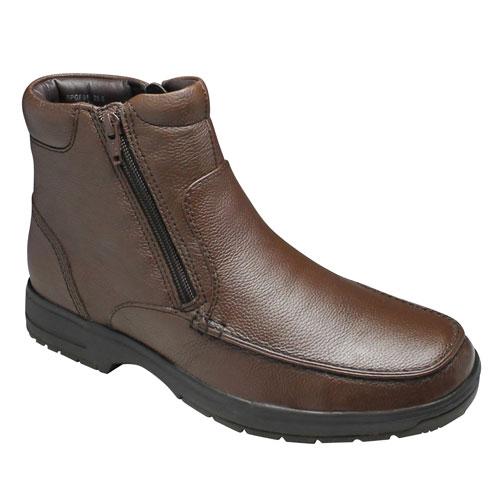 有名なブランド 【City Golf(シティー ゴルフ【City】4Eの幅広・全天候型で履き心地の良い撥水加工の牛革ショートブーツ(サイドジップ)・SPGF911(ブラウン)/メンズ Golf(シティー 靴, みどりの時間:e1b4d191 --- phcontabil.com.br