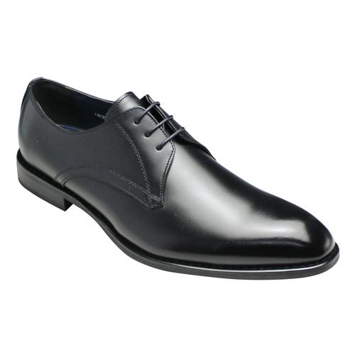 【hiroko koshino homme(ヒロコ コシノ オム)】ロングノーズの幅広(3E)牛革ビジネスシューズ(プレーントゥ)・HK3200(ブラック)/メンズ 靴