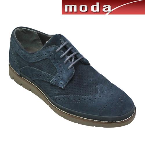 ナカノヒロミチ カジュアルシューズ ウイングチップ HN210H ネイビースエード メンズ 靴