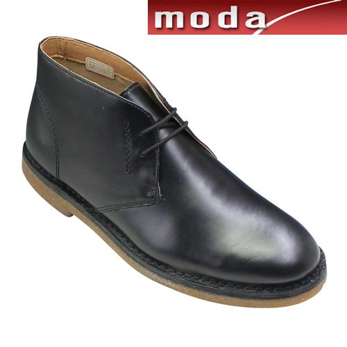 ナカノヒロミチ チャッカーブーツ プレーン ラウンドトゥ HN213H ブラック メンズ 靴
