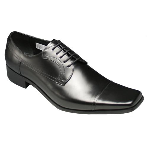 【KATHARINE HAMNETT (キャサリン ハムネット)】人気デザインが再登場・スクウェアトゥのロングノーズ(ストレートチップ)・KH3947(ブラック)/メンズ 靴