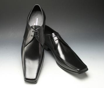 [KATHARINE HAMNETT] a popular design a re-appearance long nose (swirl toe), KH3948( black)of the square toe