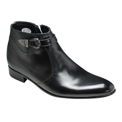 国内最安値! 【20%OFF】【LUTECIA(ルテシア)】ヘビの型押しがオシャレなショートブーツ(サイドベルト)・LU186(ブラック)/メンズ 靴 靴, スポーツFX:d96cb06f --- phcontabil.com.br