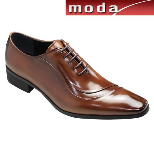 ルテシア マドラス ドレスシューズ スワールモカ ロングノーズ LU5005 ブラウン LUTECIA madras メンズ 靴