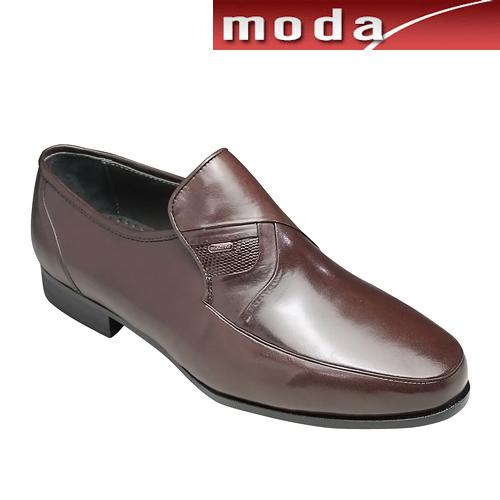 マドラス/ビジネスシューズ(スリッポン)6501(ブラウン)/ラウンドトゥ 軽量 3E/ヘビの型押し/メンズ 靴