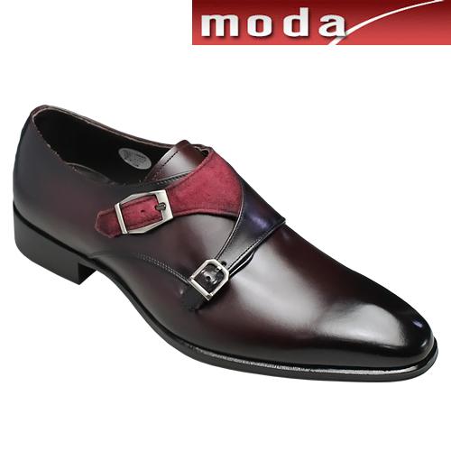 マドラス/牛革ビジネスシューズ(ダブルモンク)/M223(バーガンディワイン)/メンズ 靴