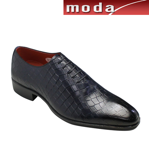 マドラス ビジネスシューズ クロコ型押し プレーントゥ M242 ネイビー madras メンズ 靴