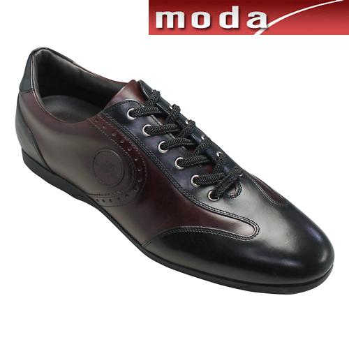 マドラス レザースニーカー メダリオン M255 ブラックバーガンディ madras メンズ 靴