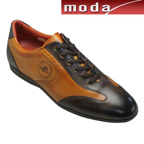 マドラス レザースニーカー メダリオン M255 ダークブラウンキャメル madras メンズ 靴