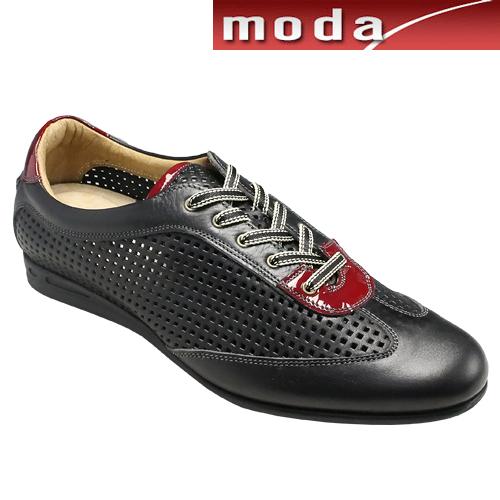 マドラス/ソフト素材使用のレースアップレザースニーカー/M3003(ブラック)/メンズ 靴