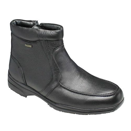 【madras Walk(マドラス ウォーク) 】4E幅広・GORE-TEX(ゴアテックス)の多機能ショートブーツ(ラウンドトゥ)・SPMW5476(ブラック)/メンズ 靴