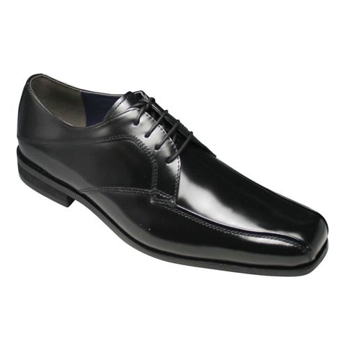 【MARIO VALENTINO(マリオ バレンティーノ)】牛革ビジネスシューズ3Eの幅広スワールモカ(レース)・MR3016(ブラック)/メンズ 靴