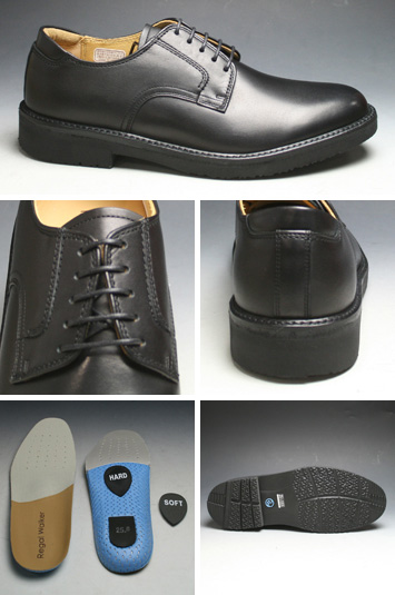 [REGAL WALKER( Regal Walker] 】 3E (wide) water repellency processing, cowhide town walking shoes (plane toe), 101w (black) [easy ギフ _ packing]