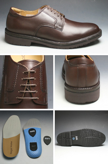 [REGAL WALKER( Regal Walker] 】 3E (wide) water repellency processing, cowhide town walking shoes (plane toe), 101w (dark brown) [easy ギフ _ packing]