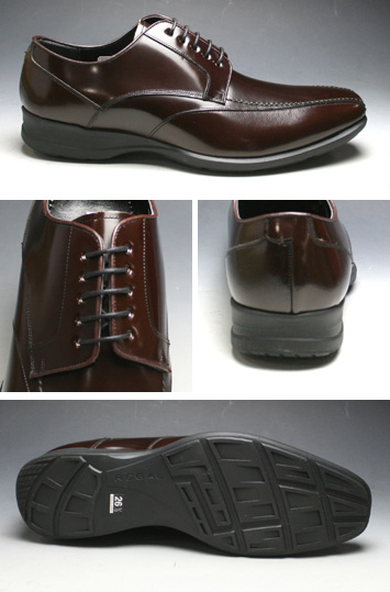 Lightweight leather business shoes (sworrtu) 833-R (dark brown)