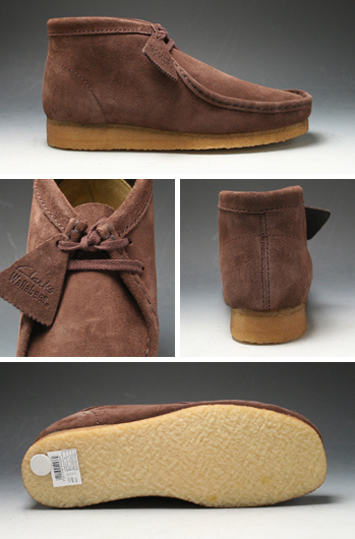 Model representing the Clarks WALLABEE BOOT (boots Wallaby)-886 C (brown suede) 20352273