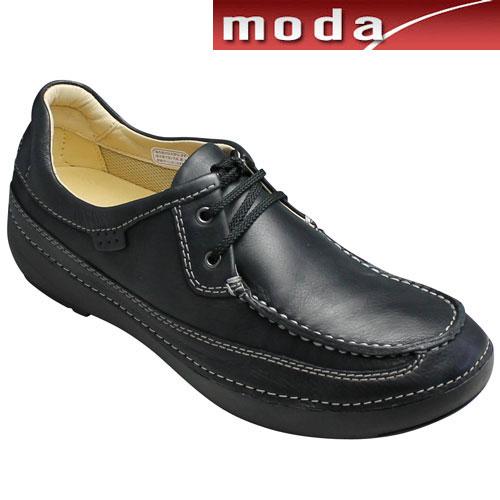 【REGAL WALKER(リーガル ウォーカー)】ソフトで軽量のタウンカジュアル(2アイレット)・243w(ブラック)・3E幅広/メンズ 靴