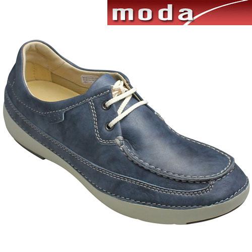 【REGAL WALKER(リーガル ウォーカー)】ソフトで軽量のタウンカジュアル(2アイレット)・243w(ネイビー)・3E幅広/メンズ 靴