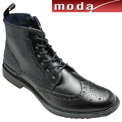 【REGAL(リーガル)】トリッカーズモデルのレインブーツ防滑タイプ(ウイングチップ・レースアップ)・81JR(ブラック)/メンズ 靴