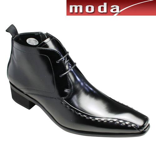 【TRUSSARDI(トラサルディ)】カーフ素材のレースアップブーツ(スワールモカ)・TR10277(ブラック)・日本製・3E/メンズ 靴