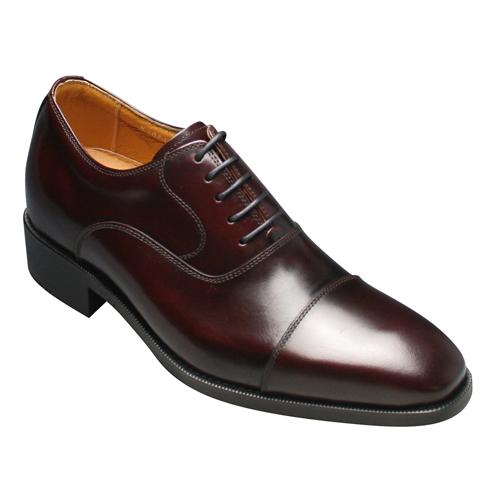 【moda selection(モーダセレクション)】トレンドデザインの牛革ヒールアップシューズ・NO.1301(ワイン)/メンズ 靴