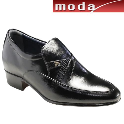 moda selection/トレンドデザインの牛革ヒールアップシューズ・s3320(ブラック)/メンズ 靴