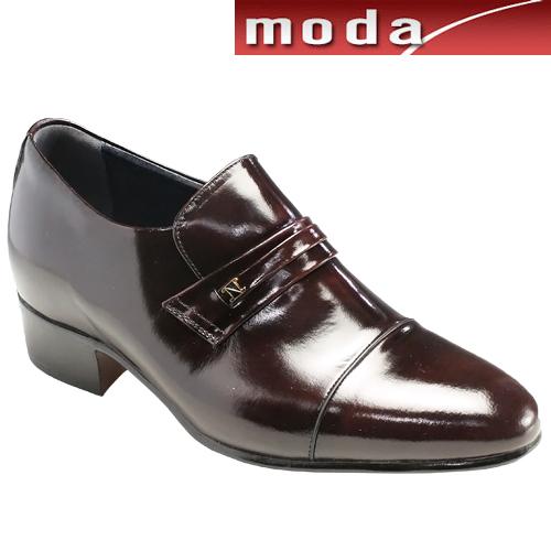 moda selection/トレンドデザインの牛革ヒールアップシューズ・s531(ワイン)/メンズ 靴