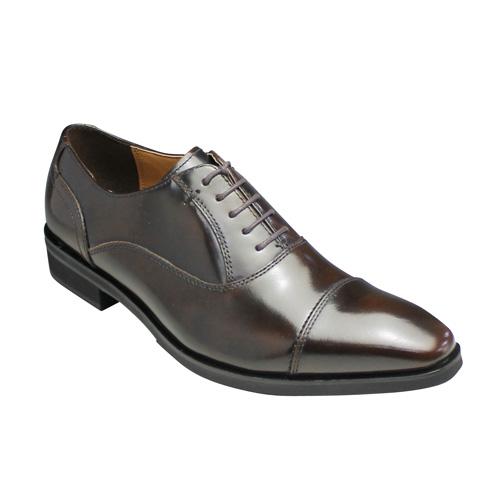 【MODELLO(モデーロ)】ロングノーズの脚長ドレスシューズ(ストレートチップ)・DM1508(ライトブラウン)/メンズ 靴