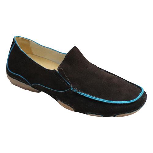 【MODELLO(モデロ)】スエード素材のタウンカジュアル(ドライビング)・DM2010(ダークブラウン)・3E/メンズ 靴