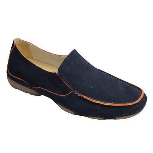 【MODELLO(モデロ)】スエード素材のタウンカジュアル(ドライビング)・DM2010(ネイビー)・3E/メンズ 靴