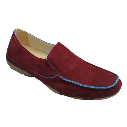 【MODELLO(モデロ)】スエード素材のタウンカジュアル(ドライビング)・DM2010(ワイン)・3E/メンズ 靴